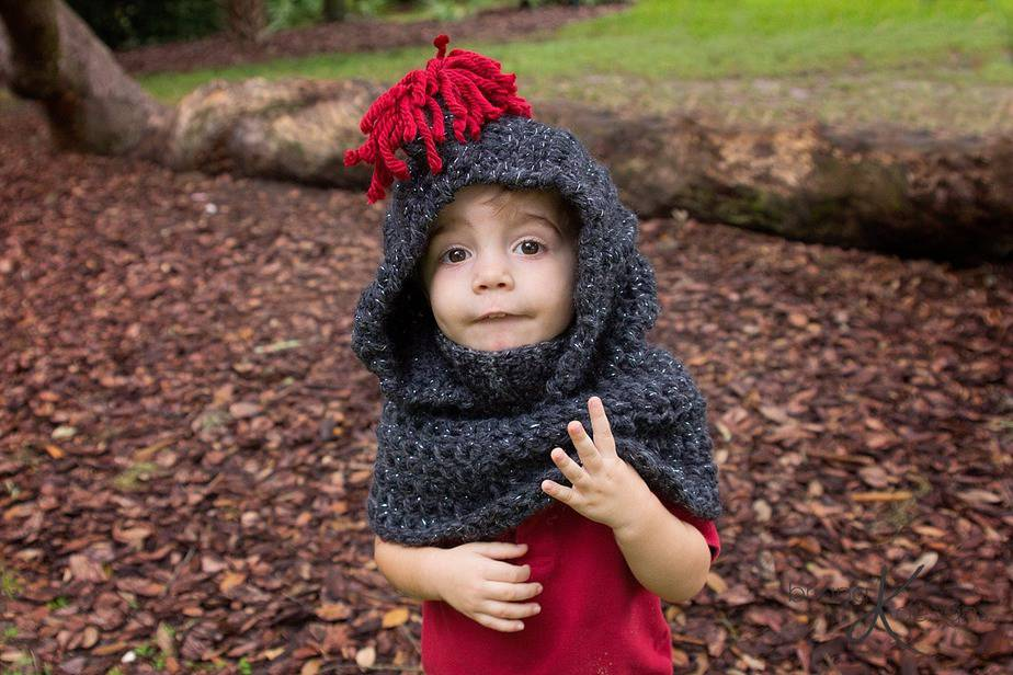 Knight Crochet Hooded Cowl by Briana K Designs