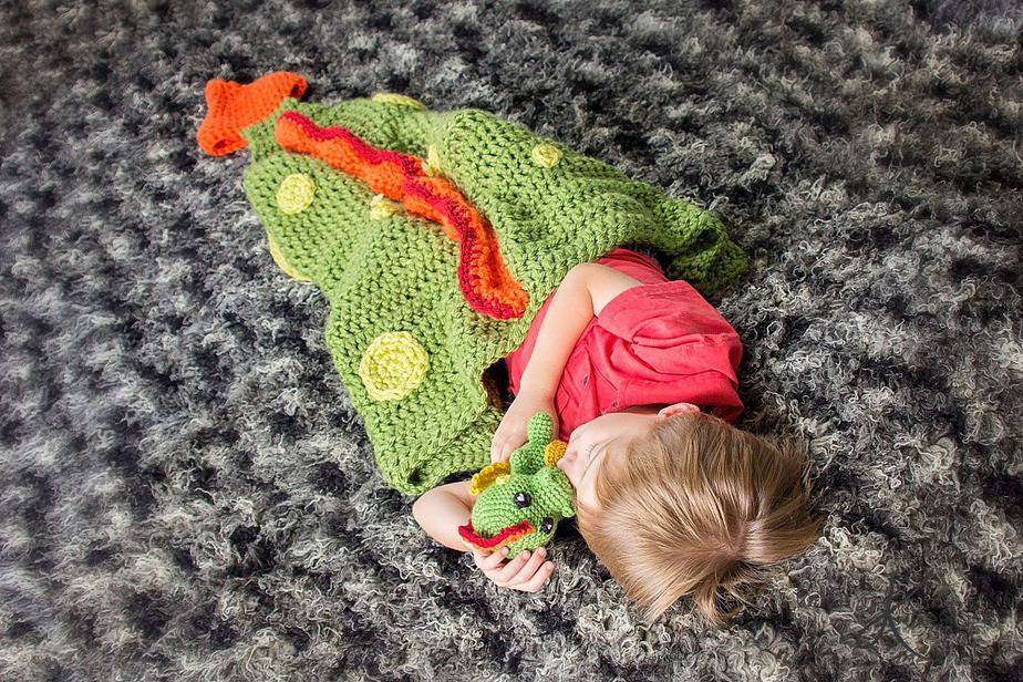Dragon Tail Crochet Blanket and Buddy by Briana K Designs