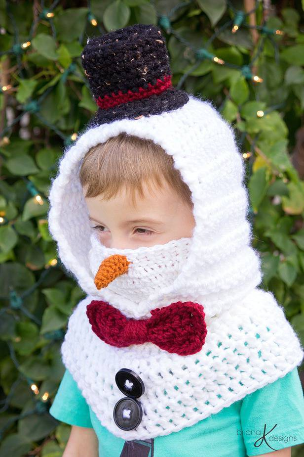 Snowman Hooded Cowl