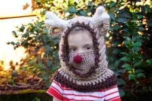 Reindeer Hooded Crochet Cowl by Briana K Designs