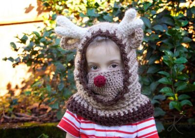 Reindeer Hooded Cowl Christmas