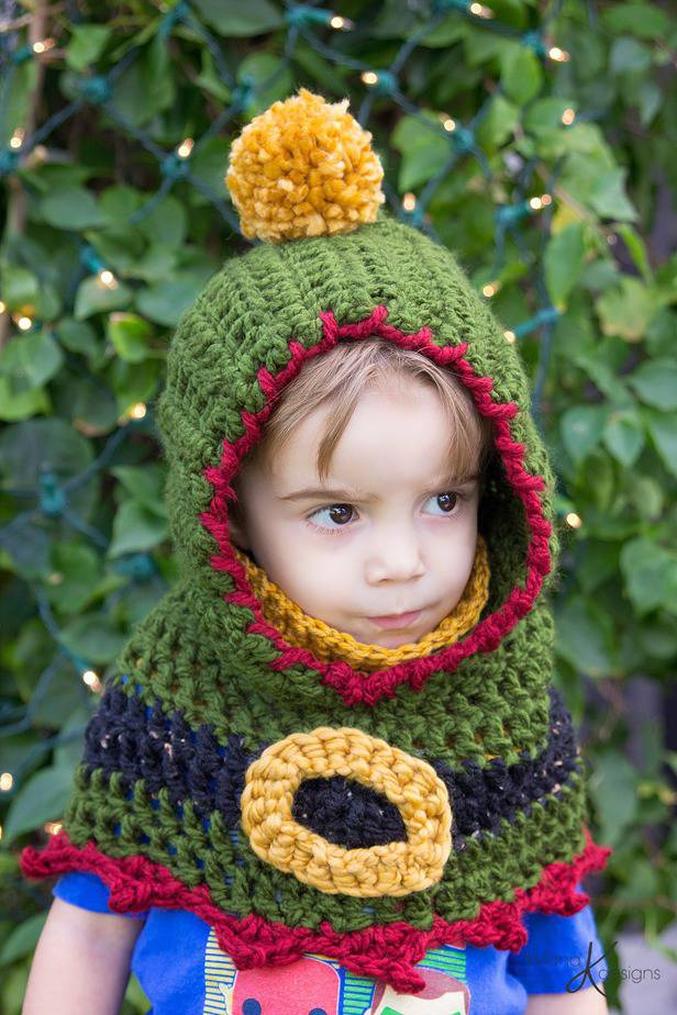 Elf Crochet Hooded Cowl by Briana K Designs