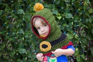 Elf Crochet Hooded Cowl by Briana K Designs