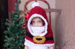 Santa Hooded Crochet Cowl by Briana K Designs