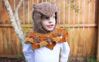 Owl Hooded Woodland Cowl