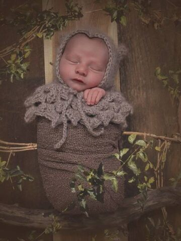 Owl Crochet Newborn Prop by Briana K Designs