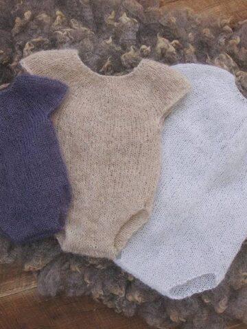 Sheer Knit Onesie Romper by Briana K Designs