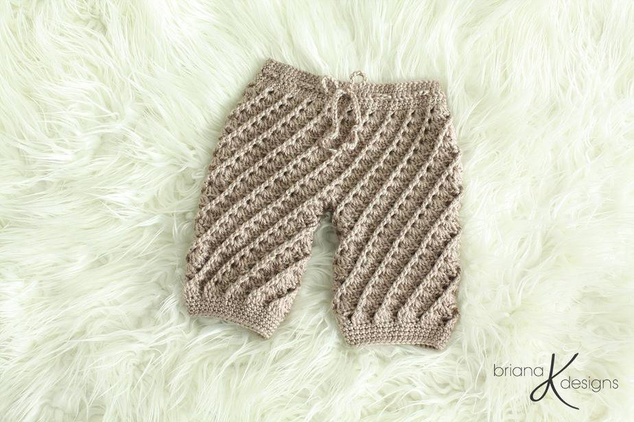 Swirl Crochet Pants or Shorts by Briana K Designs