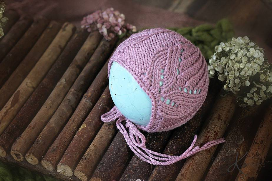 Tulip Knit Bonnet by Briana K Designs