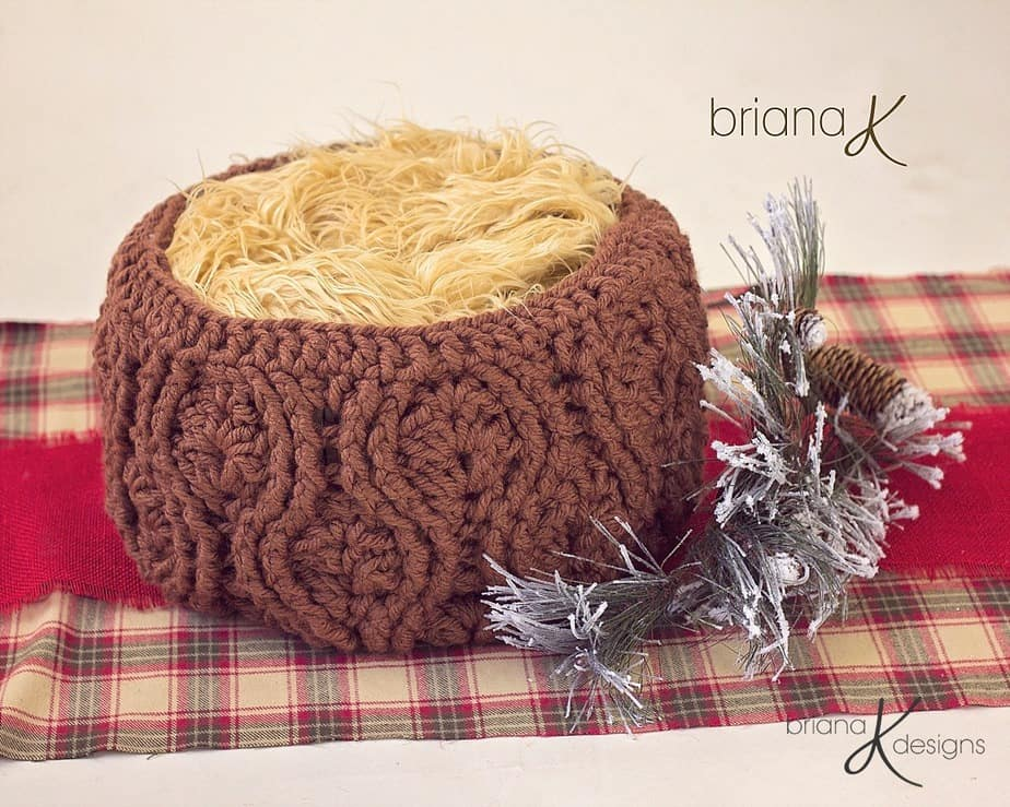 Vintage Crochet Basket by Briana K Designs