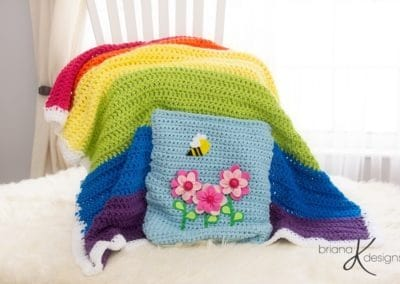 Rainbow Blanket Crochet