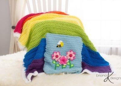 Rainbow Blanket Crochet