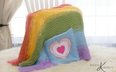 Rainbow Blanket Knit