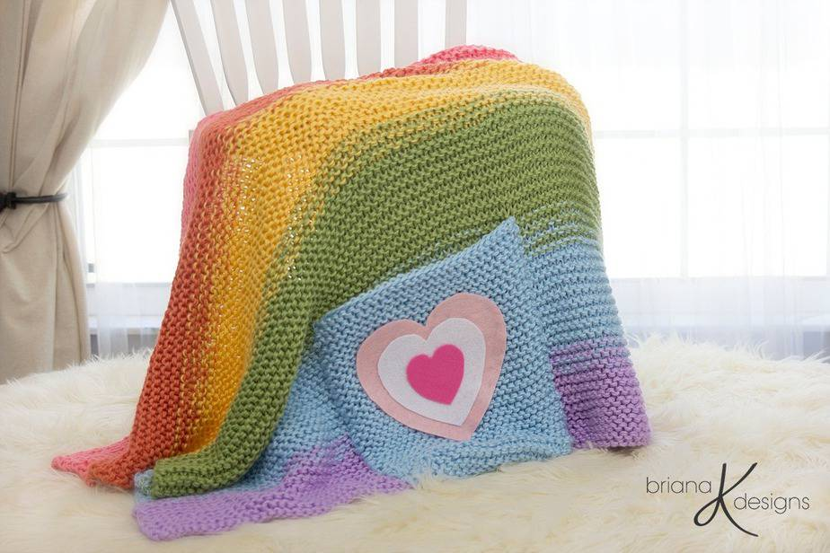 Rainbow Blanket Knit