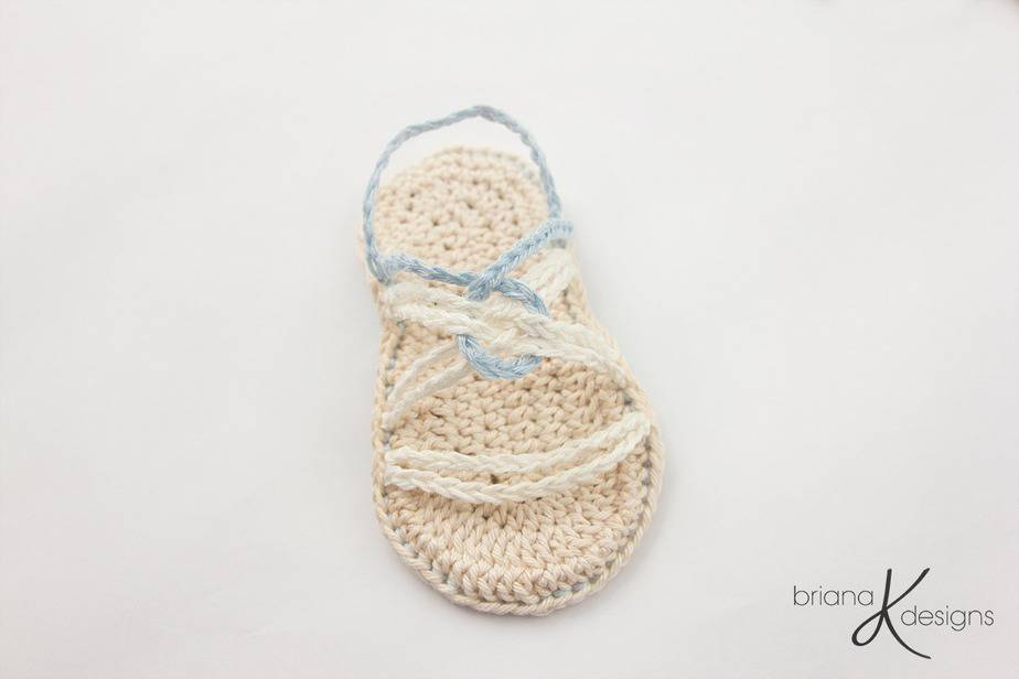 Infinity Crochet Sandals by Briana K Designs