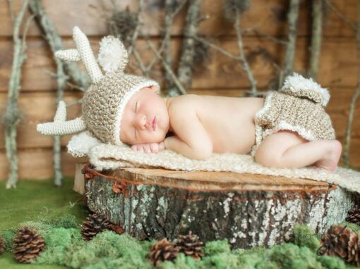 White Tail Deer Baby Outfit
