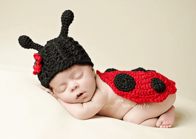 Newborn Ladybug Hat and Bottom Cover