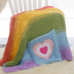 Rainbow Knit Blanket