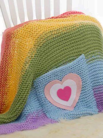 Rainbow Knit Blanket