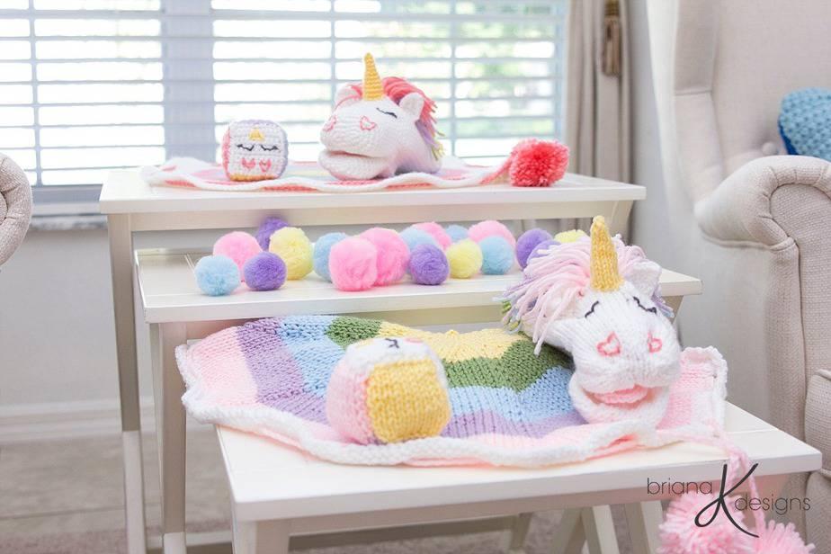Unicorn Knit Game by Briana K Designs