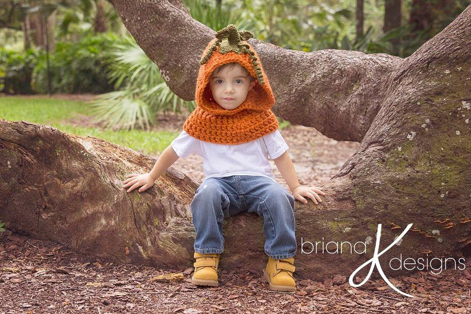 Pumpkin Hooded Cowl