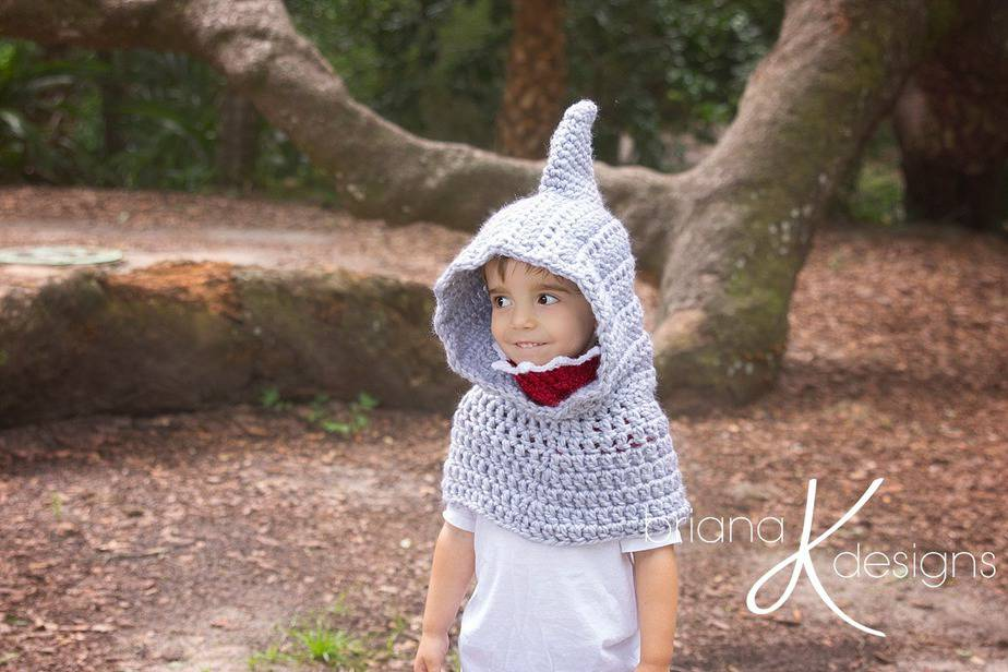 Shark Hooded Cowl