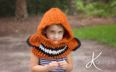 Clown Fish Hooded Crochet Cowl