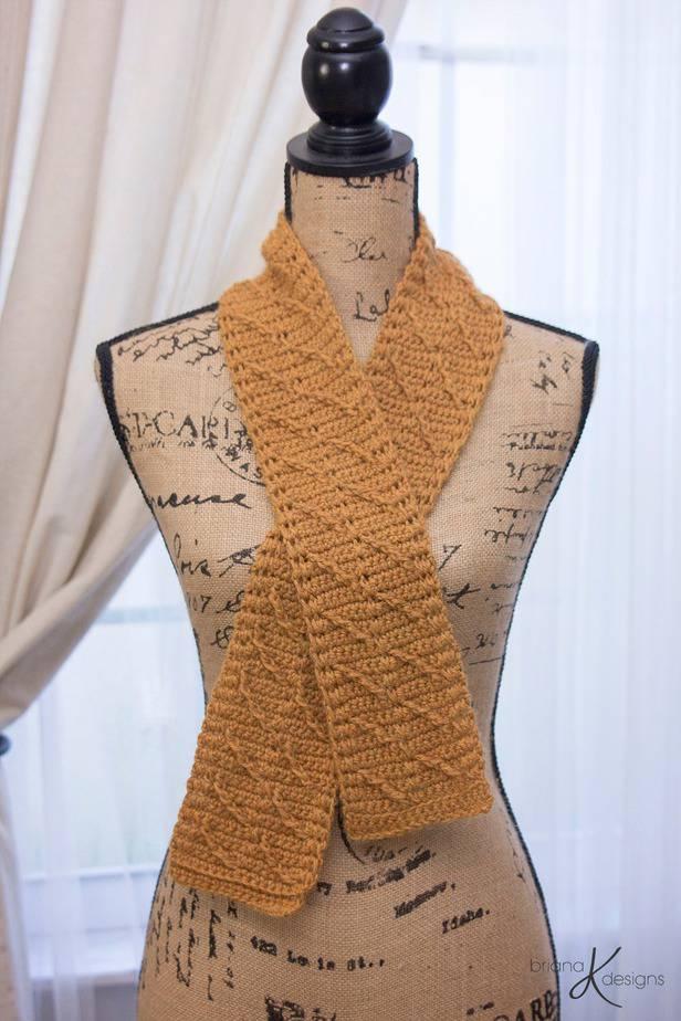 Rust Crochet Scarf