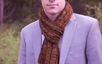 Rust Scarf Knit