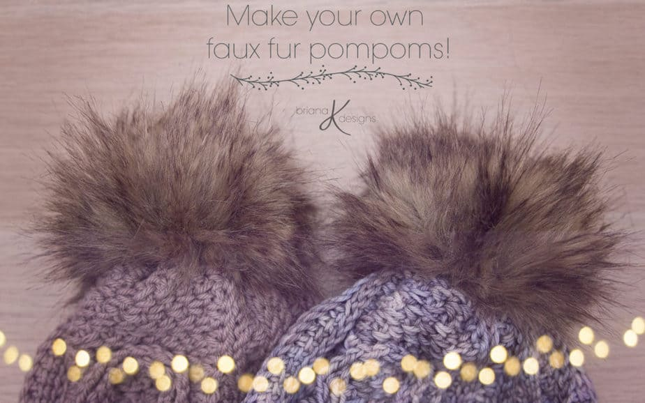 Quick Faux Fur Pompom Tutorial