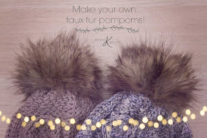 Make your own faux fur pompom