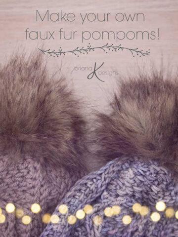 Make your own faux fur pompom