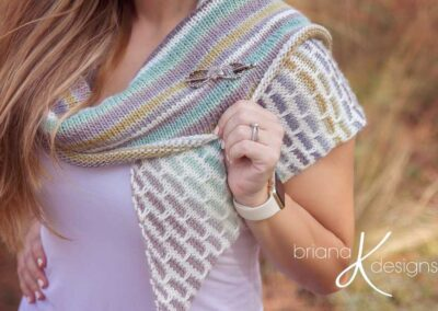 Brick and Mortar Knit Shawl Wrap