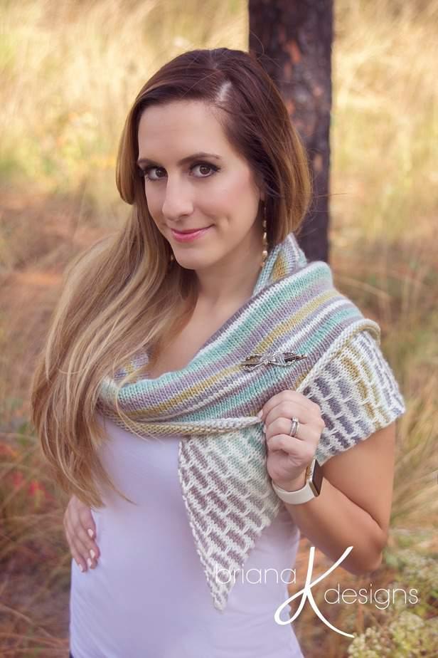Brick and Mortar Shawl Wrap Knit by Briana K Designs