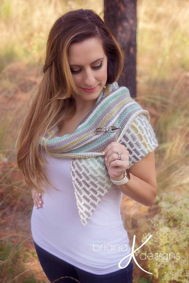 Brick and Mortar Shawl Wrap Knit by Briana K Designs