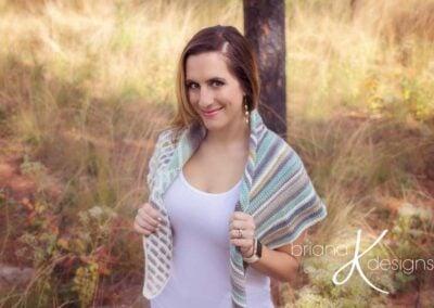 Brick and Mortar Crochet Shawl Wrap