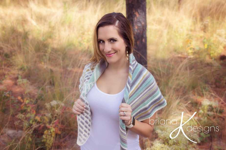 Brick and Mortar Crochet Wrap Shawl by Briana K Designs
