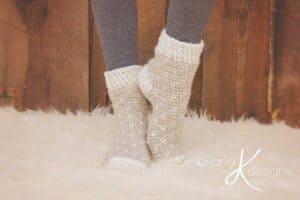 Winter Crochet Slippers