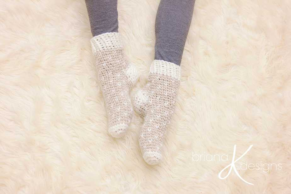 Winter Crochet Slippers