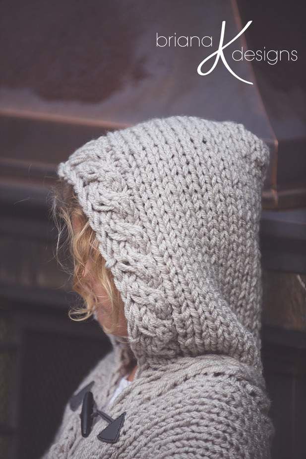 Nordic Winter Knit Cape
