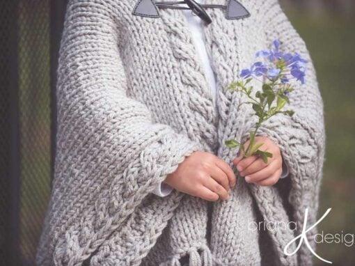 Nordic Winter Knit Cape