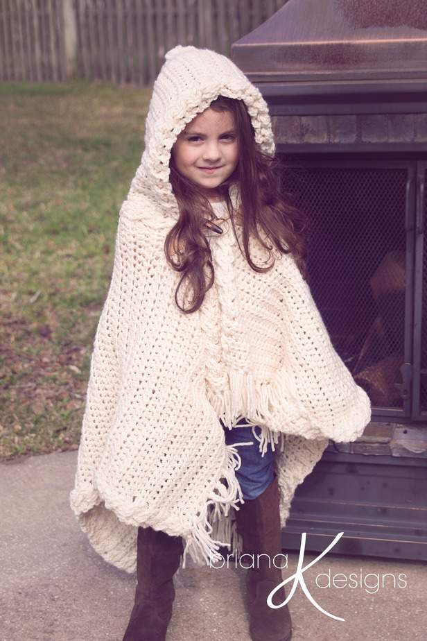 Nordic Winter Crochet Cape