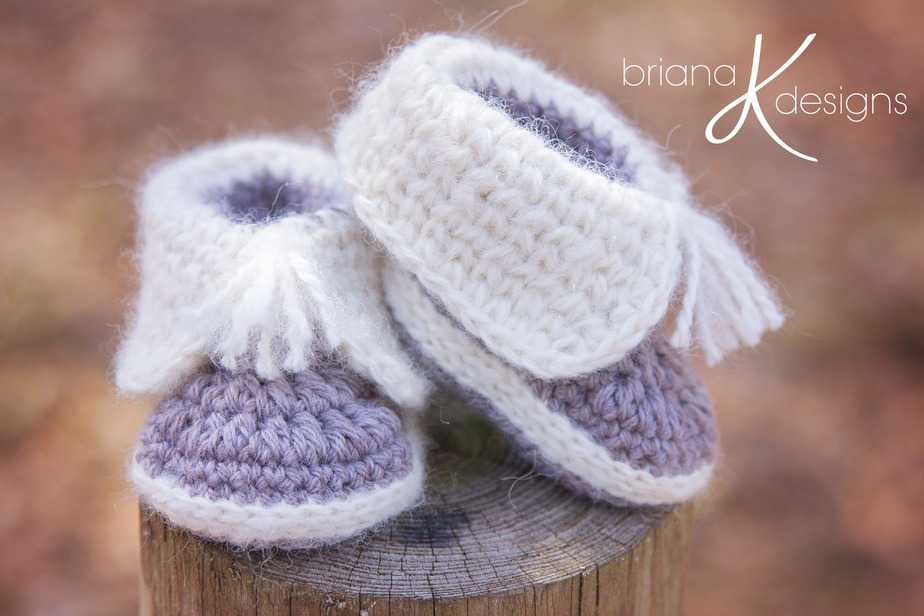 Crochet Snow Baby Boots