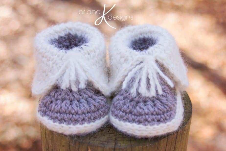 Crochet Snow Baby Boots