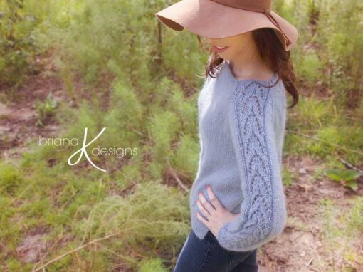 Lace Sleeve Knit Sweater