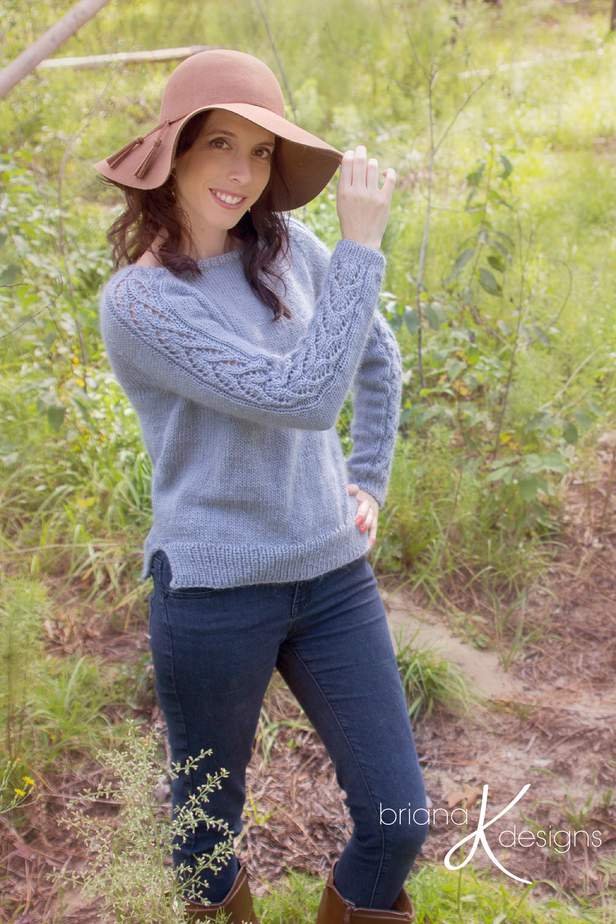 Lace Sleeve Knit Adult Sweater