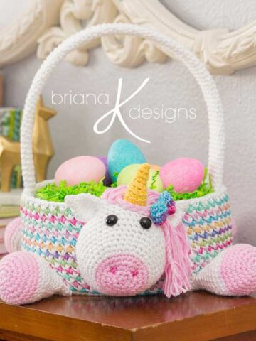 Unicorn Easter Basket crochet