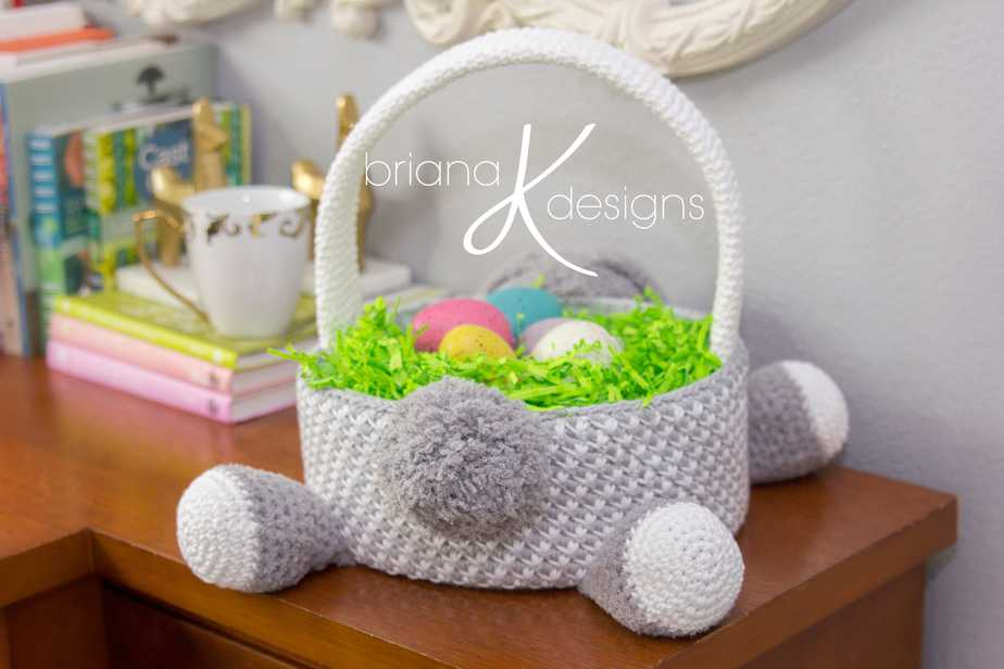 Bunny Easter Basket Crochet