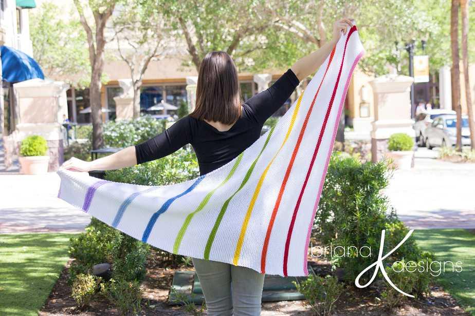 Colorwheel Rainbow Shawl