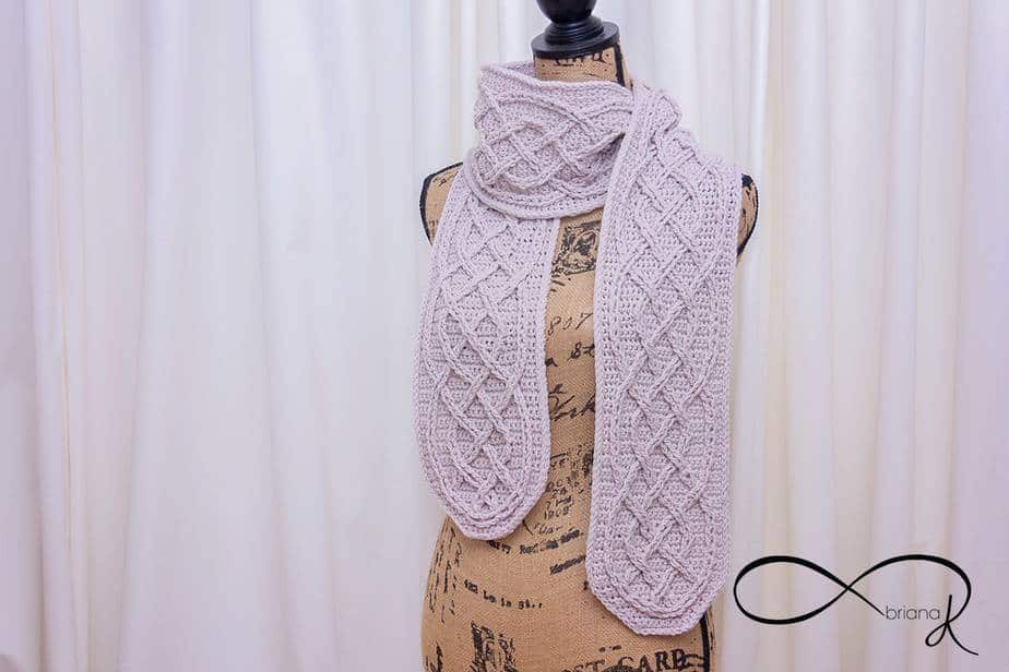 Infinity Crochet Cable Scarf